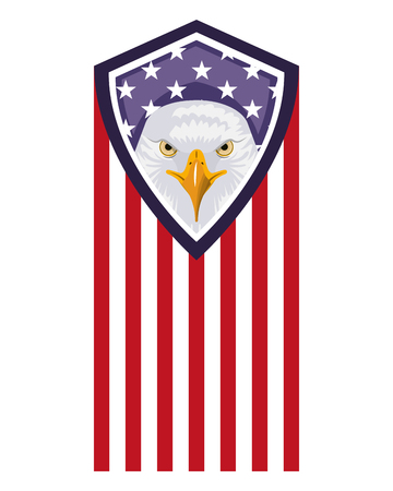 american eagle flag national symbol vector illustration