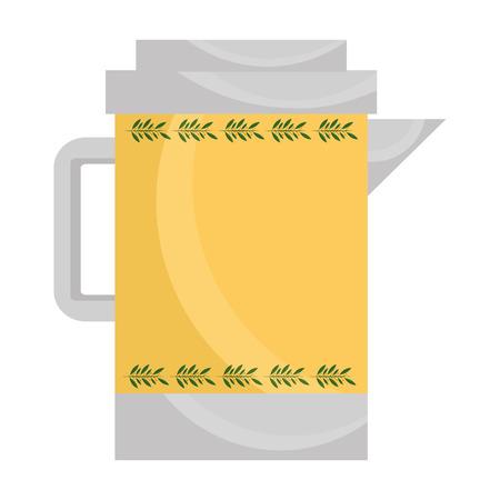 teapot ceramic kitchen image design vector illustration