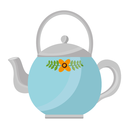 teapot ceramic kitchen image design vector illustration