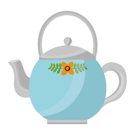 teapot ceramic kitchen image design vector illustration Stock Vector - 102916924