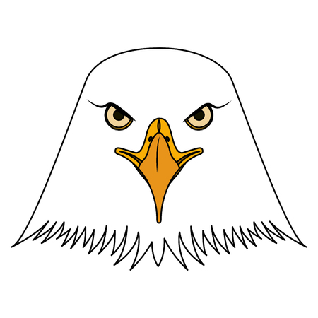 american bald eagle head vector illustration design