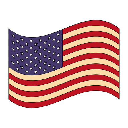 united states of america flag vector illustration design 矢量图像