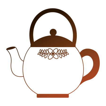 kitchen teapot isolated icon vector illustration design Illustration