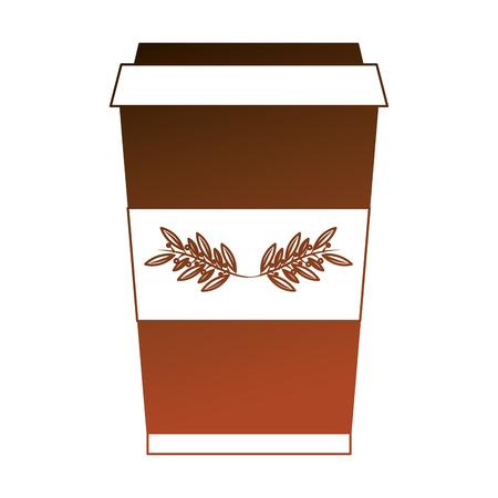 herbs tea cup in plastic container vector illustration design 일러스트