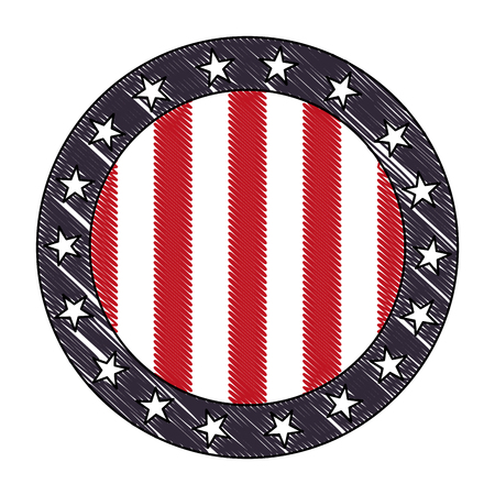 stamp with united states of america flag vector illustration drawing Reklamní fotografie - 102917295