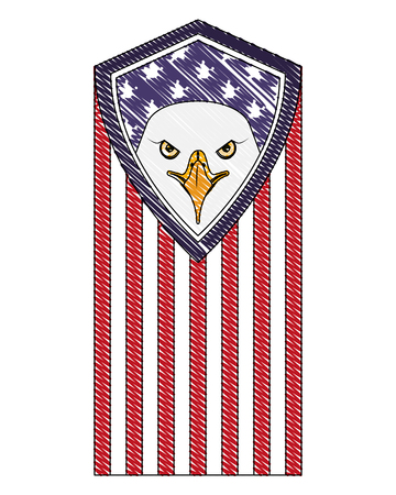 american eagle flag national symbol vector illustration drawing