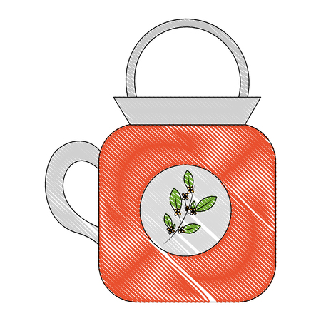coffee cup ceramic beverage fresh vector illustration drawing