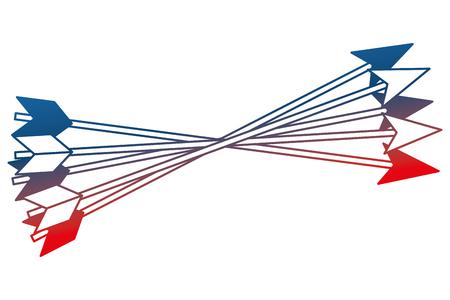 crossed arrows weapon ancient image vector illustration gradient design