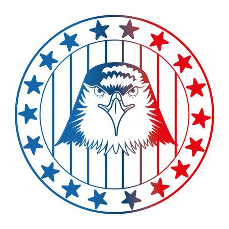 american eagle usa flag emblem vector illustration gradient design Stock Vector - 102917351