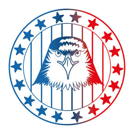 american eagle usa flag emblem vector illustration gradient design