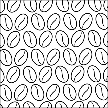 coffee grains isolated pattern vector illustration design