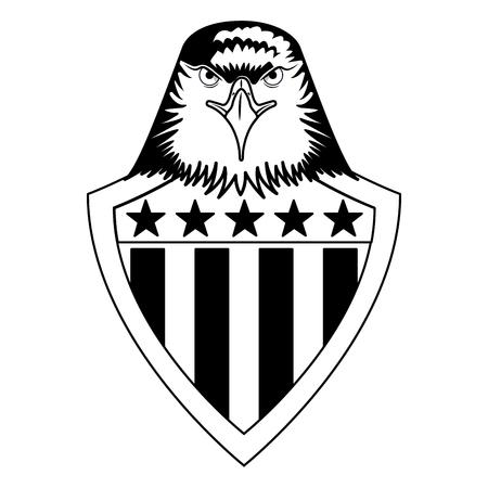 american bald eagle shield vector illustration design Illustration