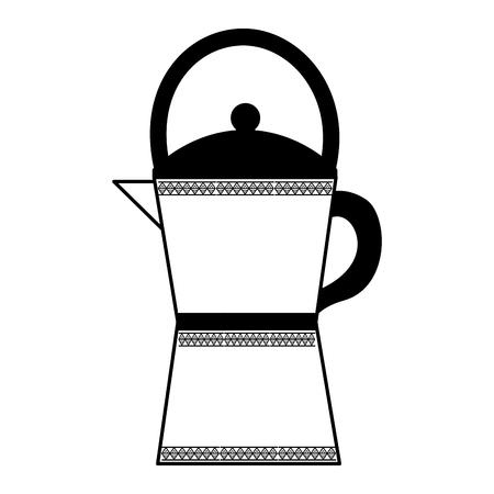 kitchen teapot isolated icon vector illustration design Çizim