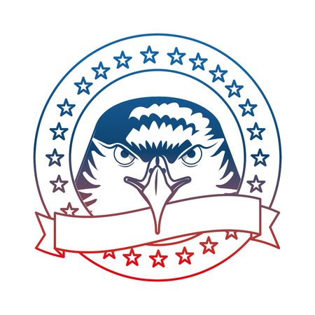 american eagle flag national symbol label ribbon vector illustration Stok Fotoğraf - 102922524