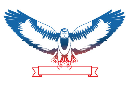 american eagle national ribbon symbol vector illustration