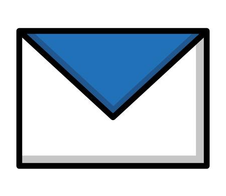 email envelope message communication image vector illustration