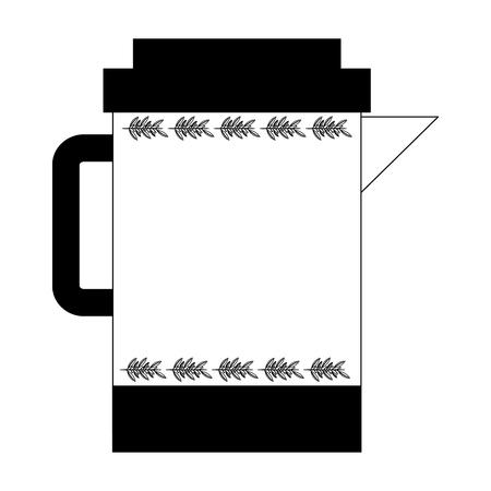 kitchen teapot isolated icon vector illustration design Illustration