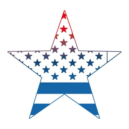 usa flag shaped star national sign vector illustration Illustration
