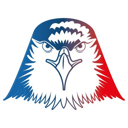 head bald eagle symbol native american vector illustration
