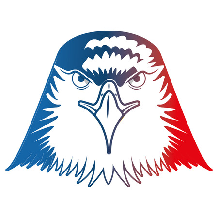 head bald eagle symbol native american vector illustration