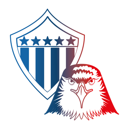american eagle usa flag emblem vector illustration Illustration