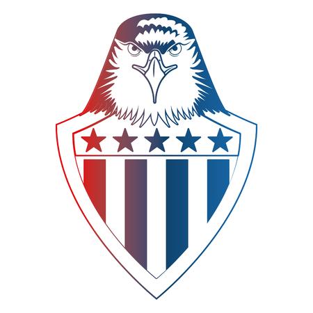 american eagle usa flag shield emblem vector illustration Foto de archivo - 102923202