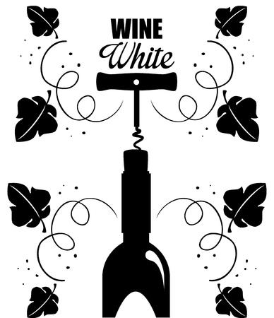 red wine bottle label vector illustration design