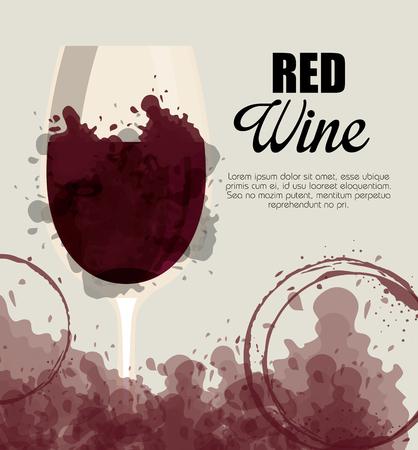 red wine cup label vector illustration design Foto de archivo - 102937551