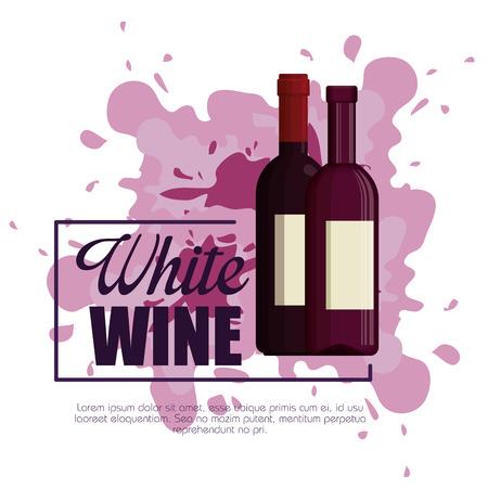 best wine bottle label vector illustration design Foto de archivo - 102937559