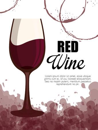 red wine cup label vector illustration design Foto de archivo - 102937577