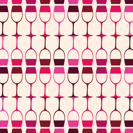 red wine cups pattern vector illustration design