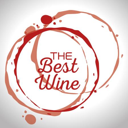 the best wine label vector illustration design