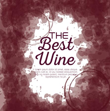 the best wine label vector illustration design Foto de archivo - 102937616