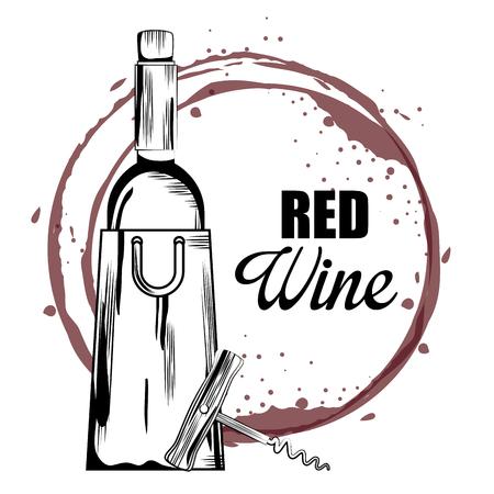 best wine bottle label vector illustration design Illustration