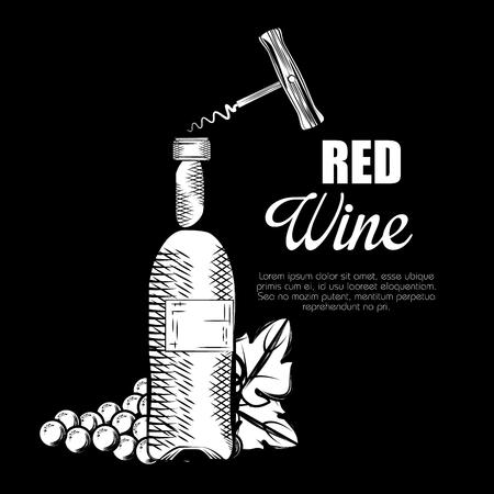 best wine bottle label vector illustration design Stock Vector - 102937691