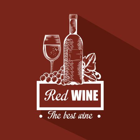 red wine set icons vector illustration design Illustration