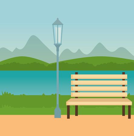 park scene outdoor icons vector illustration design