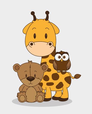 little and cute animals group vector illustration design Foto de archivo - 102938199