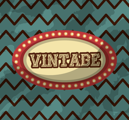 retro vintage billboard lights classic background vector illustration