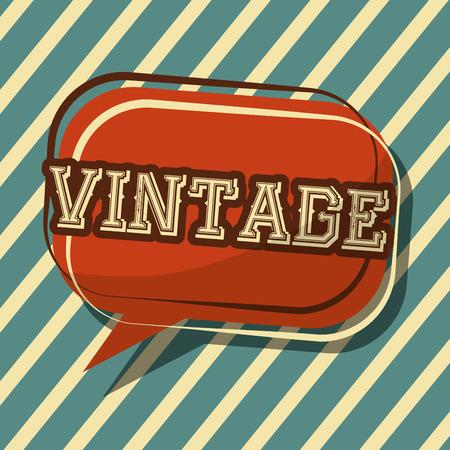 vintage classic speech bubble badge stripes background vector illustration Ilustrace