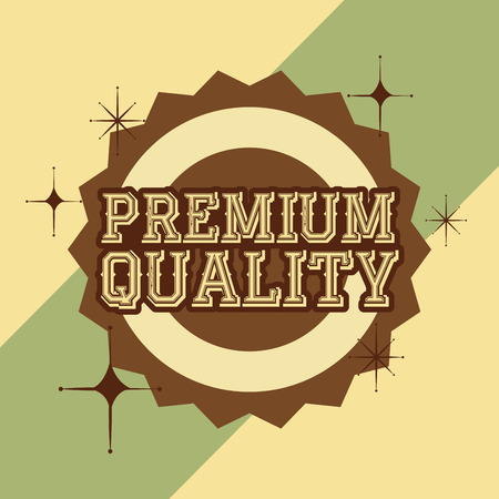 retro vintage badge premium quality vector illustration Foto de archivo - 102971405