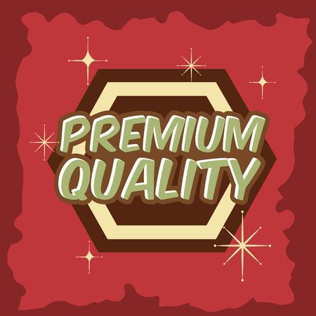 retro vintage badge premium quality grunge style vector illustration Foto de archivo - 102971997