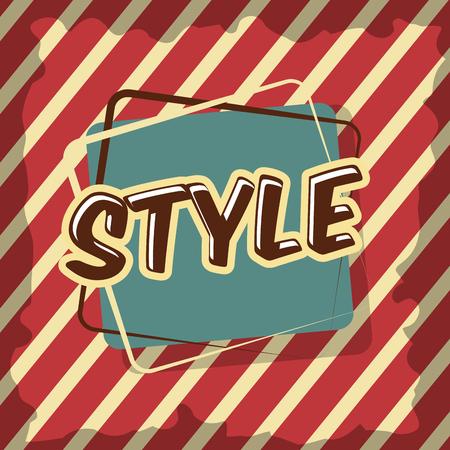 retro vintage badge lettering classic stripes background vector illustration
