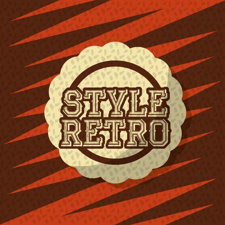 retro vintage badge sticker geometric background vector illustration
