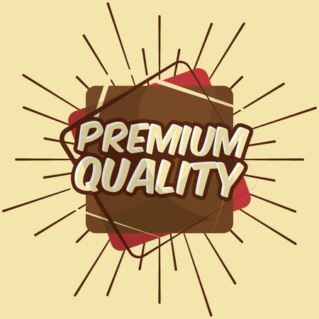 retro vintage badge premium quality decoration sunburst design vector illustration