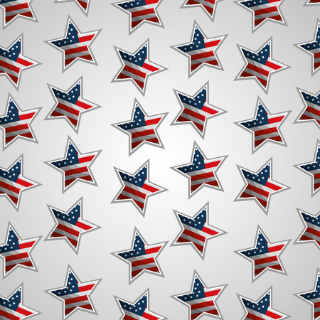 flag in stars decoration american independence day pattern vector illustration
