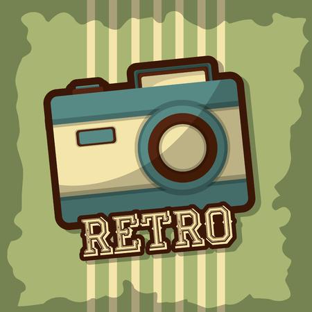 retro vintage camera photo grunge style vector illustration Standard-Bild - 102972163