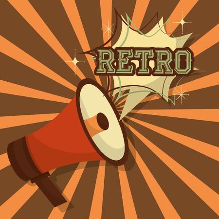 retro vintage megaphone art pop speech bubble vector illustration 向量圖像