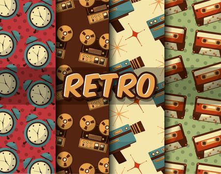 retro vintage vertical technology antique design vector illustration Banque d'images - 102971787