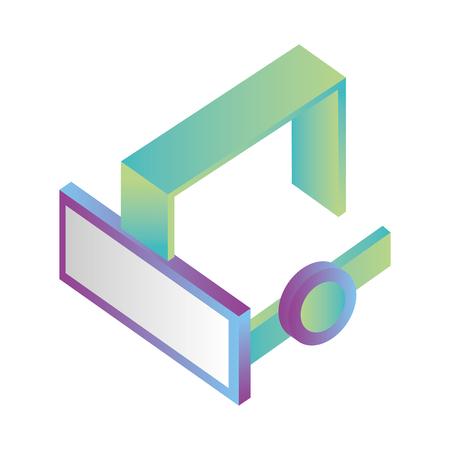 glasses virtual reality isometric icon vector illustration design 向量圖像